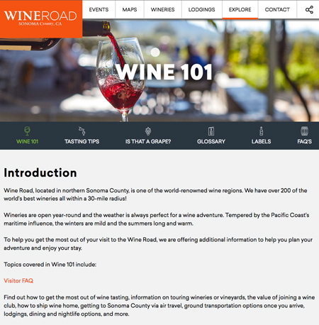 Wine 101 explores several aspects wine tasting and education.