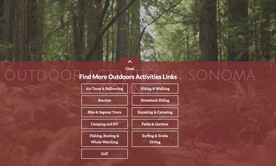 Sonoma County Outdoor Activities List