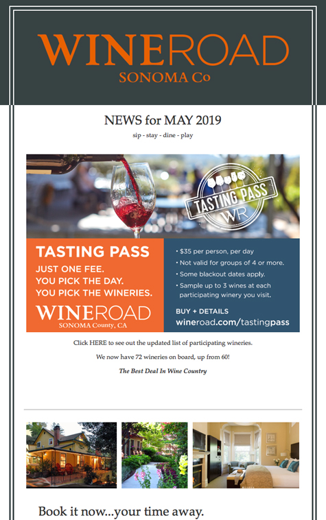 Wine Road's Monthly Newsletter