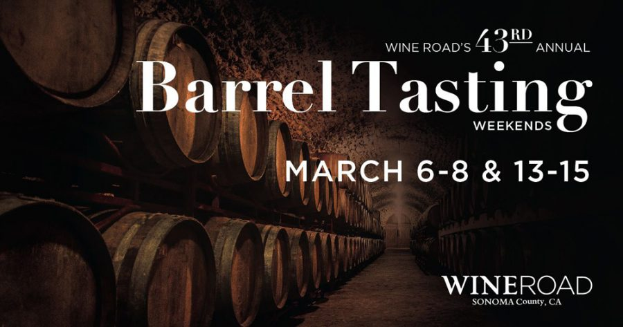 Barrel Tasting 2020 poster for March 6-8 and March 13-15