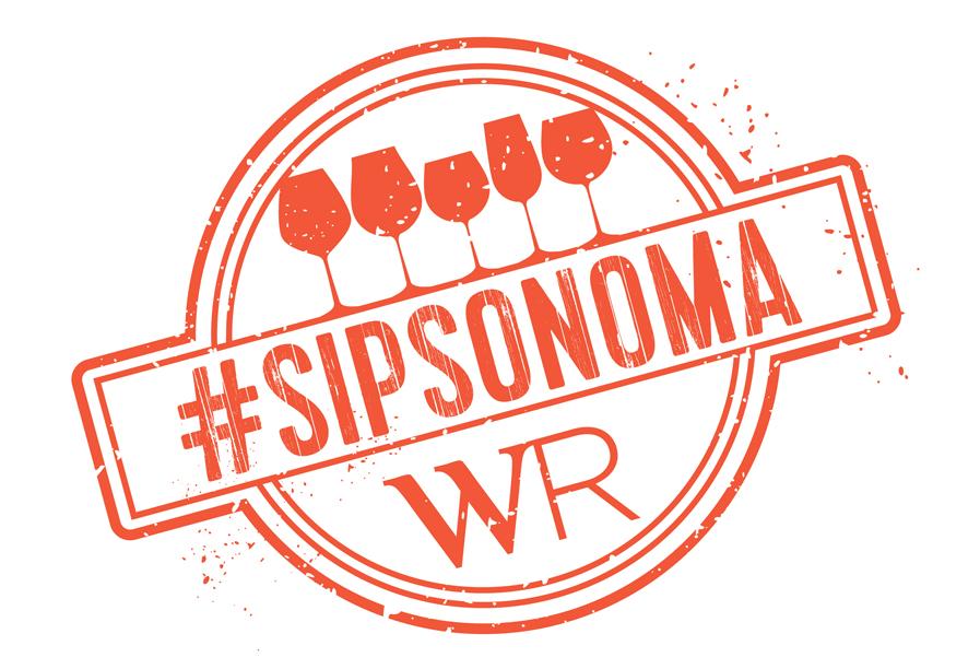 Image of #SIPSonoma logo in white.