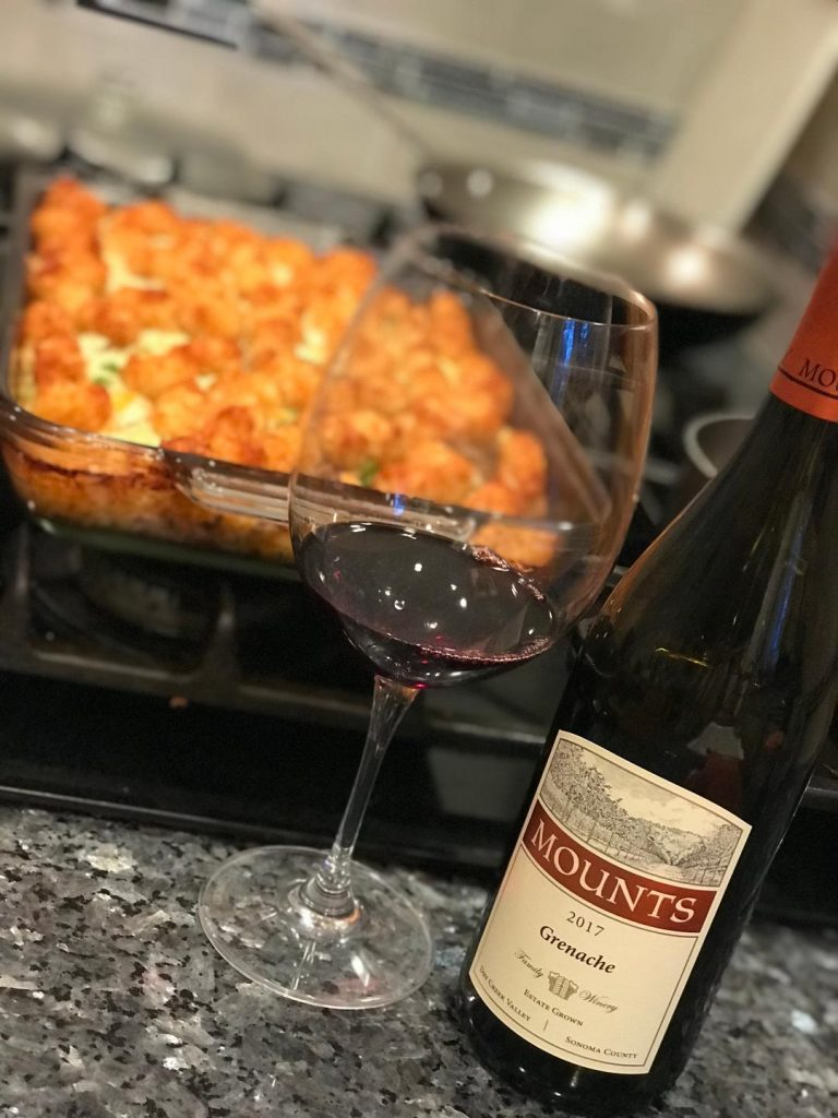 Mounts Grenache with a casserole dish in background