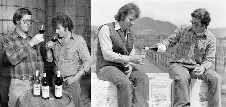 Photos of Bill and Bob Kreck circa 1970s